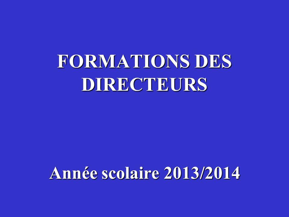 FORMATIONS DES DIRECTEURS