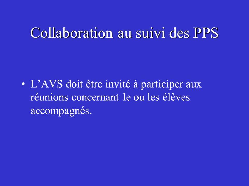 Collaboration au suivi des PPS