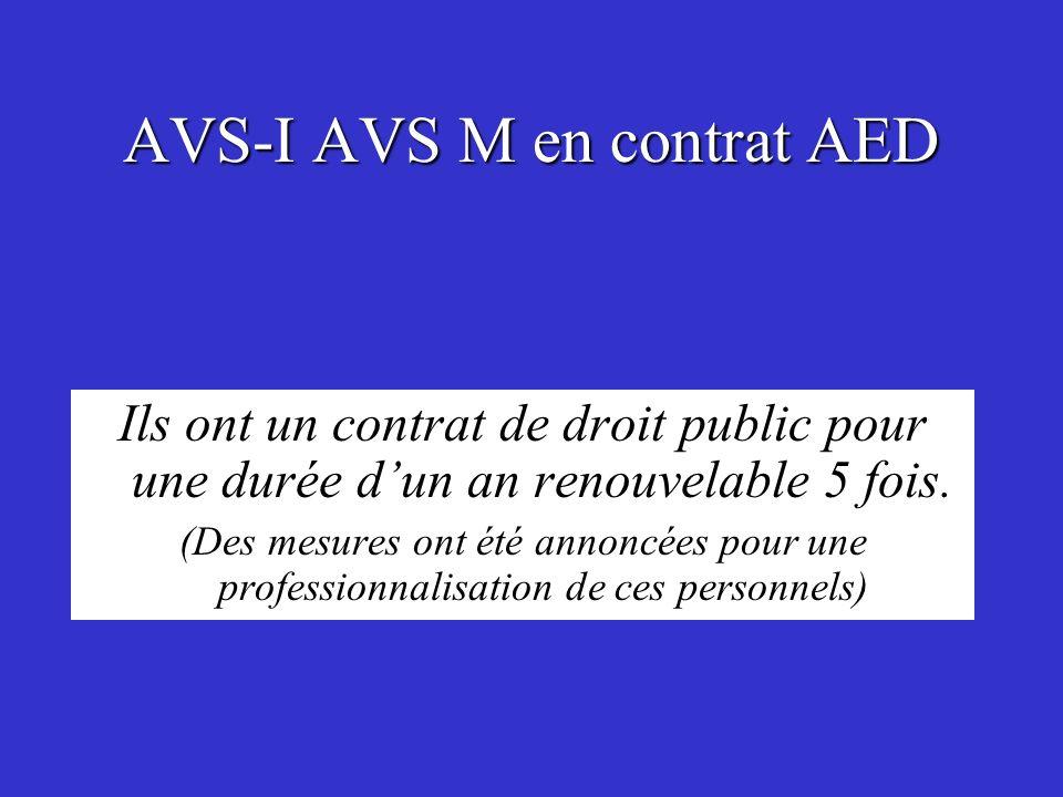 AVS-I AVS M en contrat AED