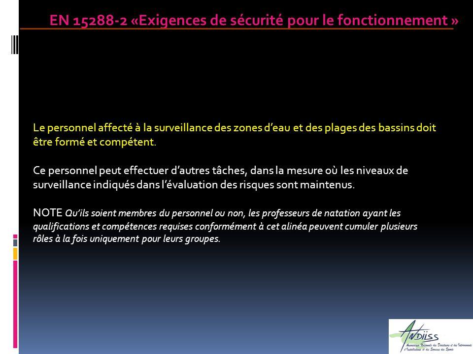 EN 15288-2 «Exigences de sécurité pour le fonctionnement »