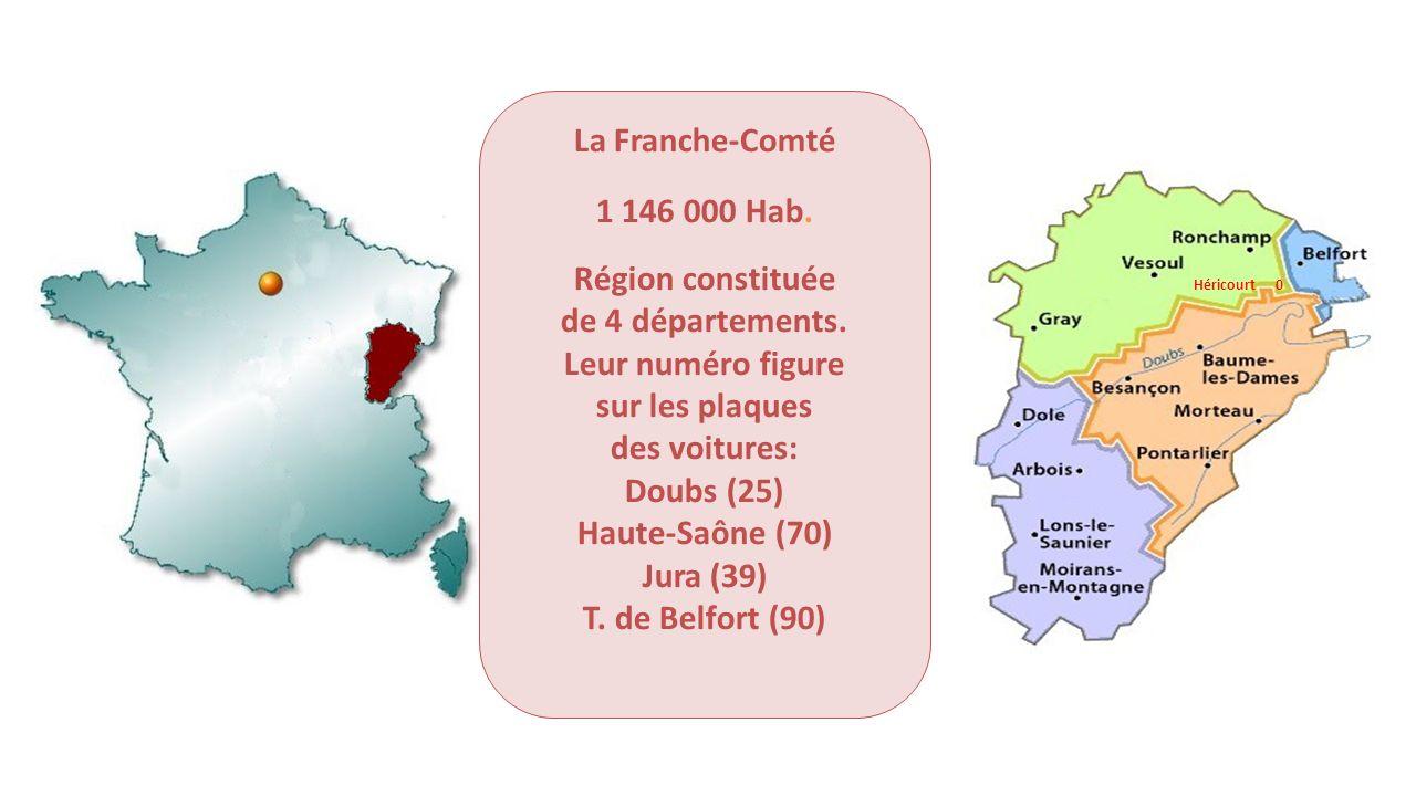 La Franche-Comté 1 146 000 Hab. Région constituée de 4 départements.