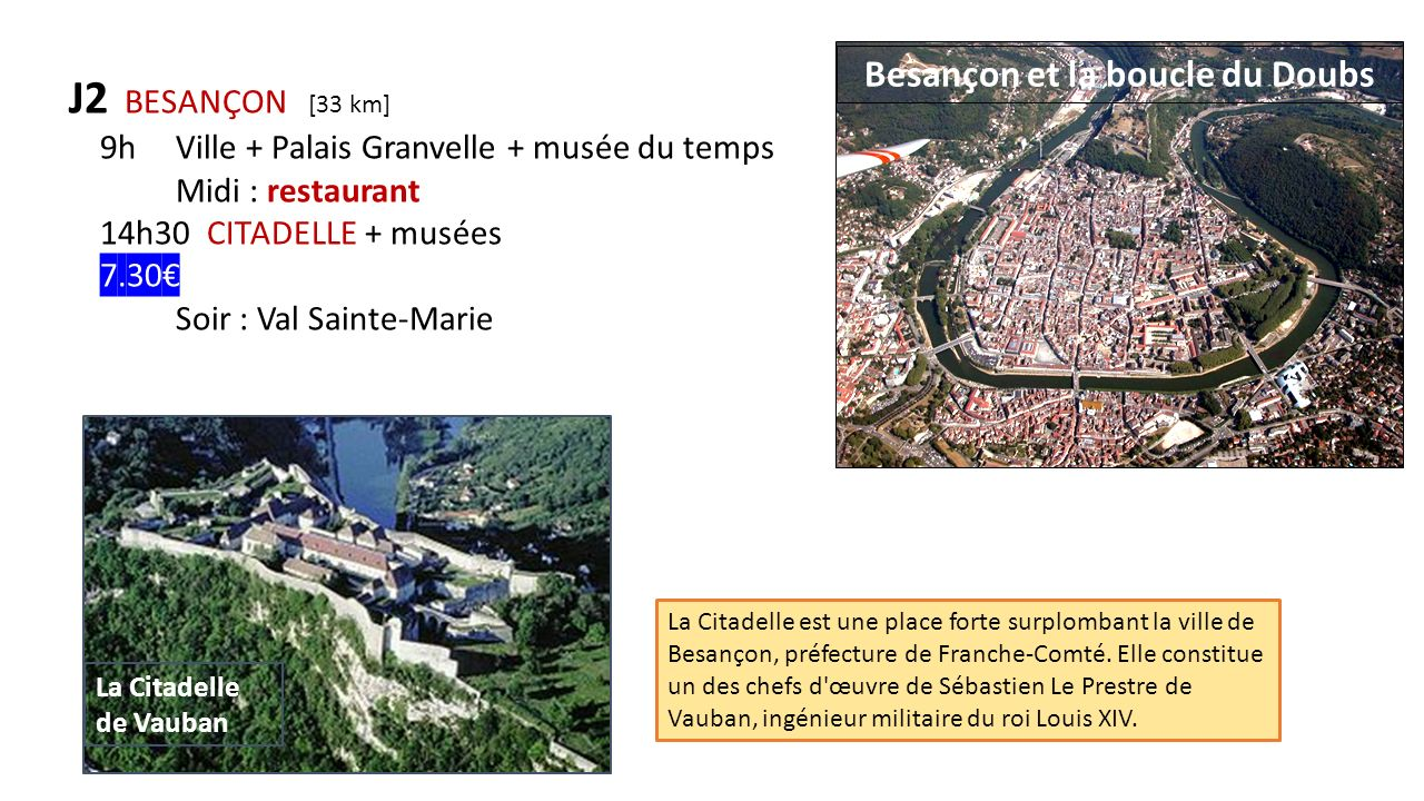 Besançon et la boucle du Doubs