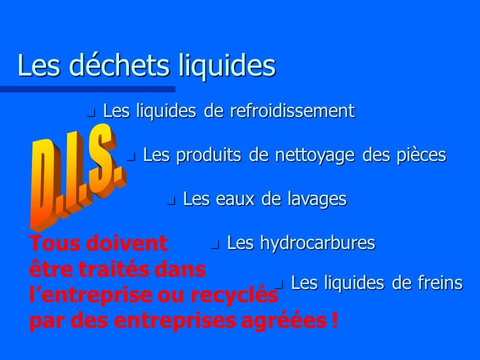 Les déchets liquides D.I.S.