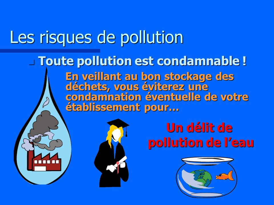 Les risques de pollution