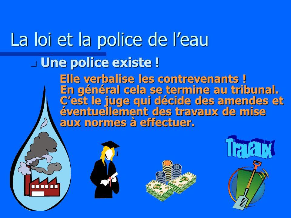 La loi et la police de l'eau