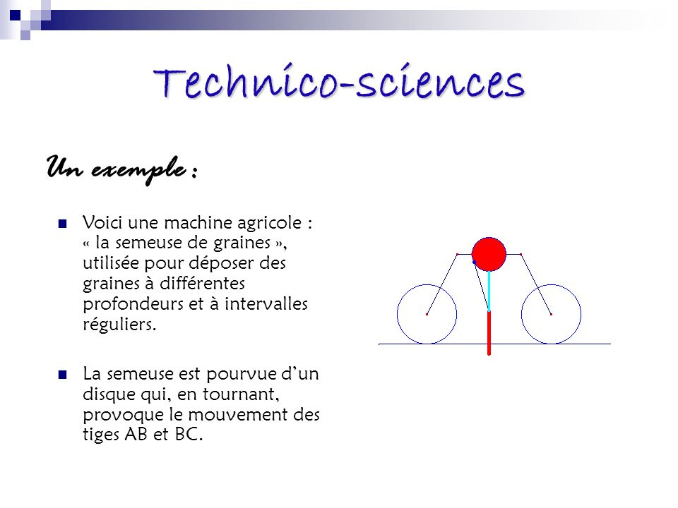 Technico-sciences Un exemple :