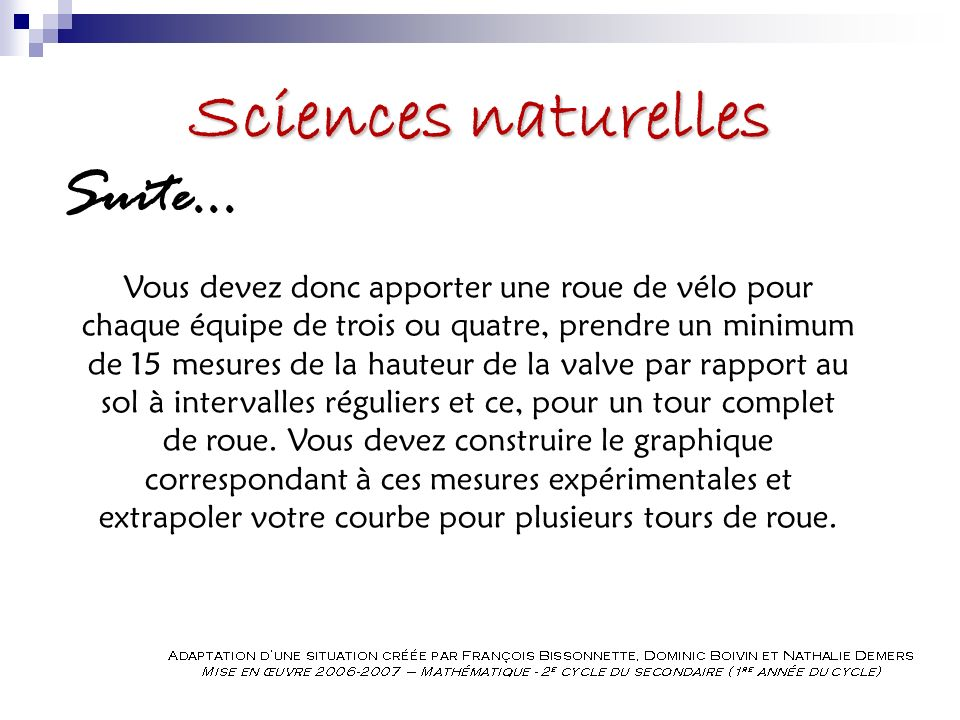 Sciences naturelles Suite...