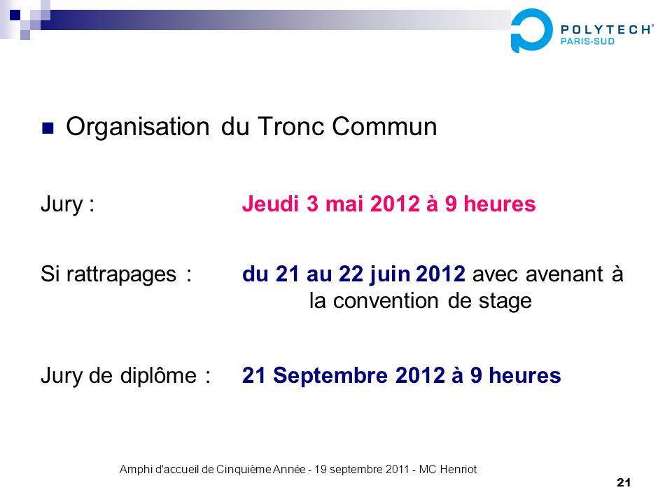 Amphi d accueil de Cinquième Année - 19 septembre 2011 - MC Henriot