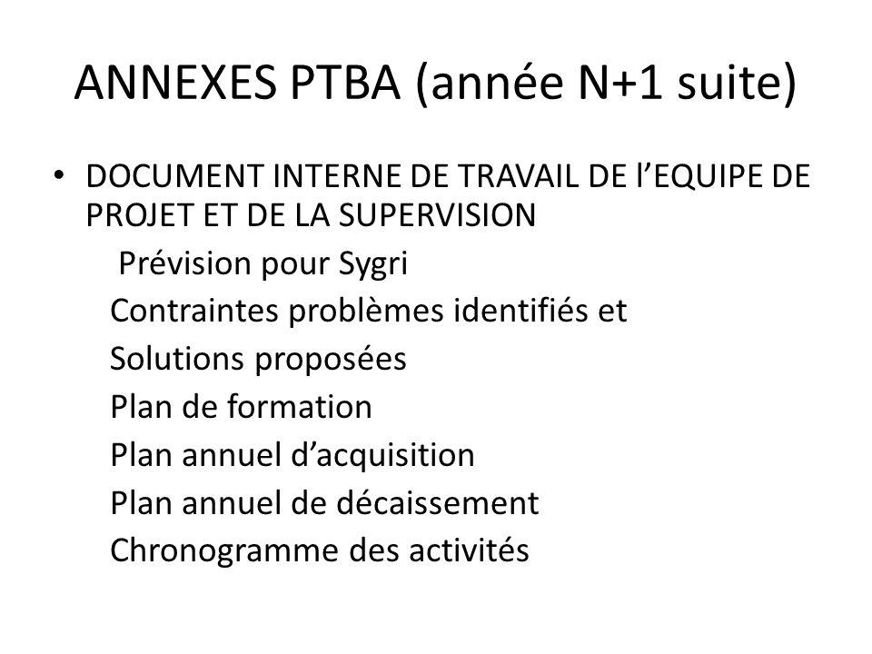 ANNEXES PTBA (année N+1 suite)