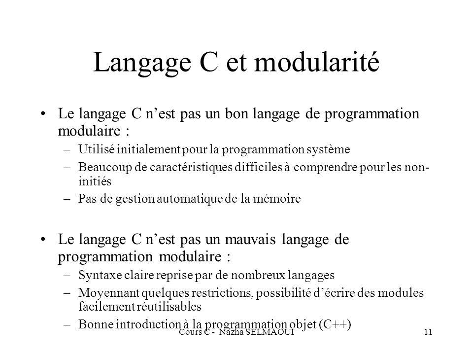 Langage C et modularité