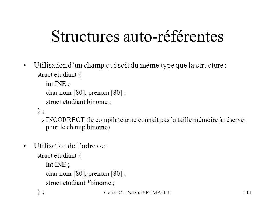 Structures auto-référentes