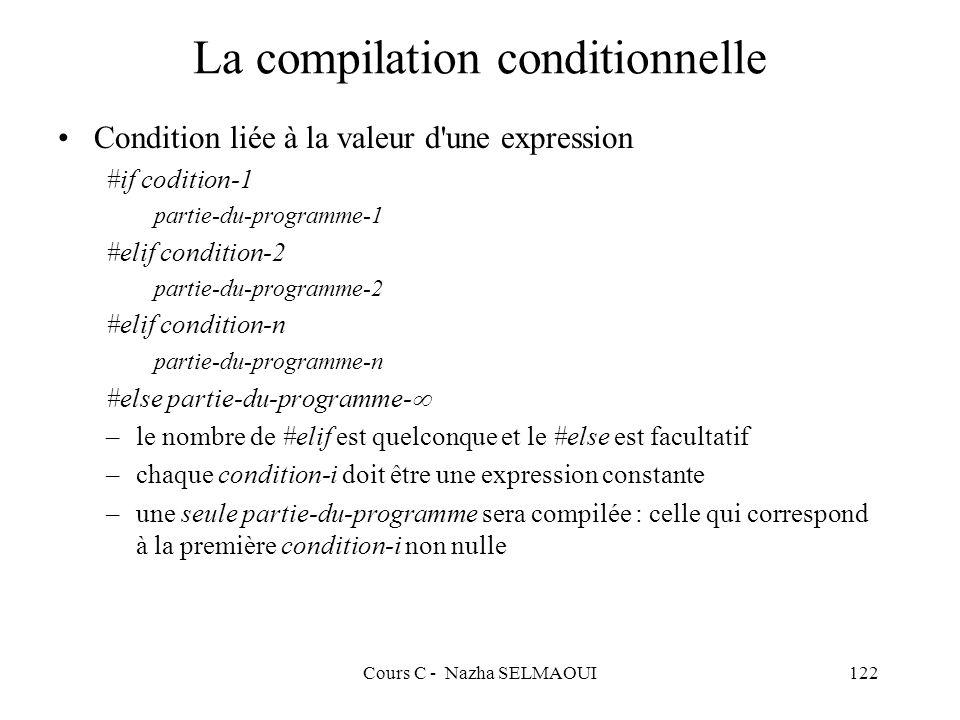 La compilation conditionnelle