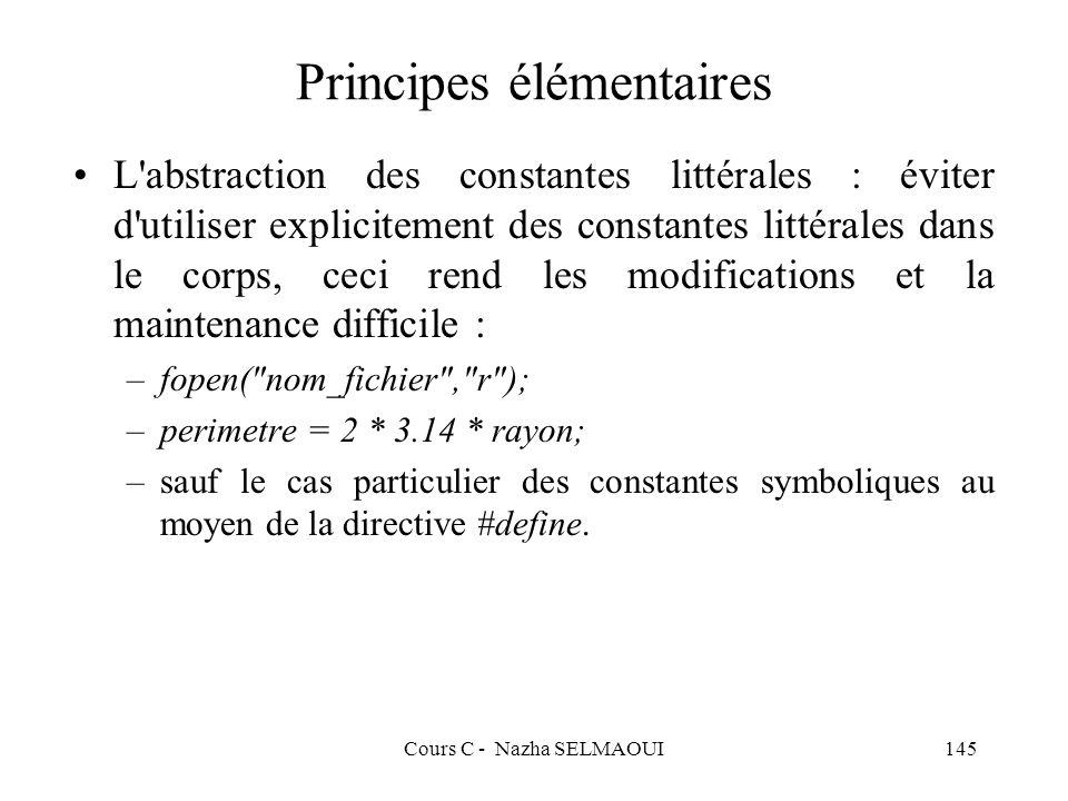 Principes élémentaires