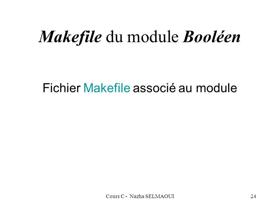 Makefile du module Booléen