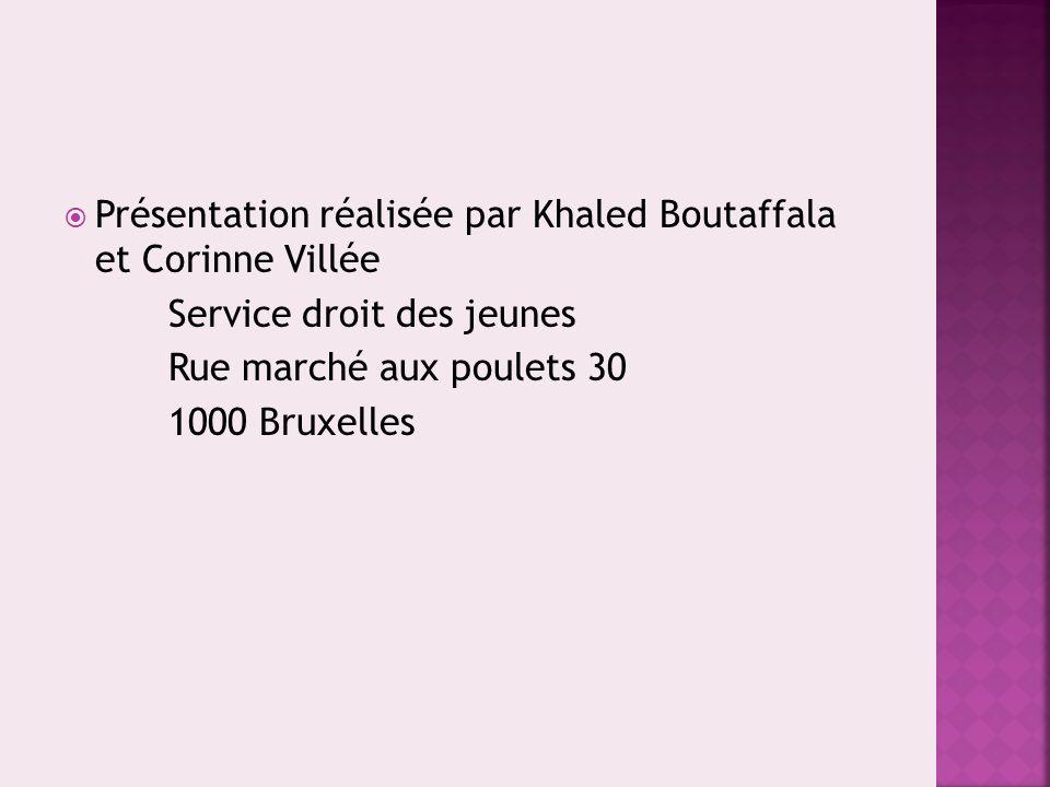 Présentation réalisée par Khaled Boutaffala et Corinne Villée