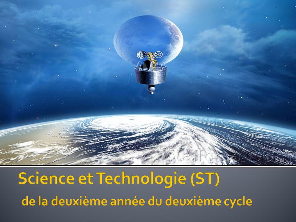 Science et Technologie (ST) de la deuxième année du deuxième cycle