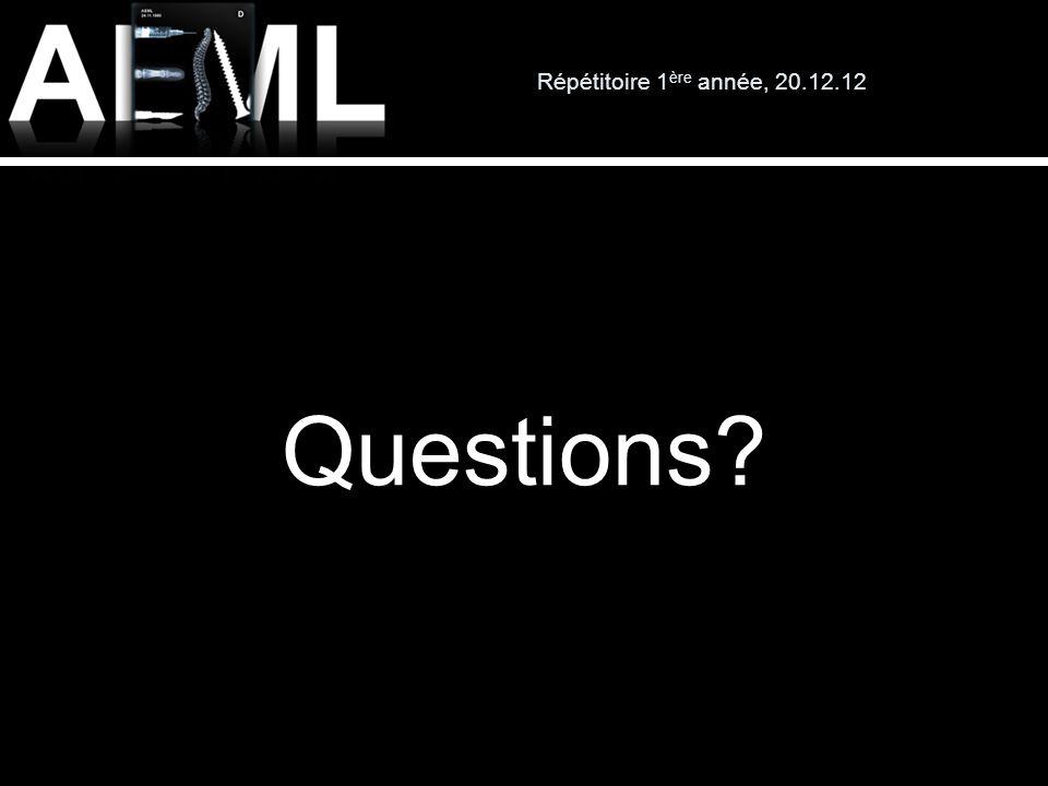 Répétitoire 1ère année, 20.12.12 Questions