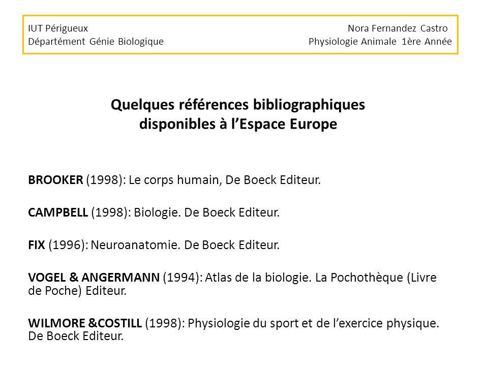Quelques références bibliographiques disponibles à l'Espace Europe