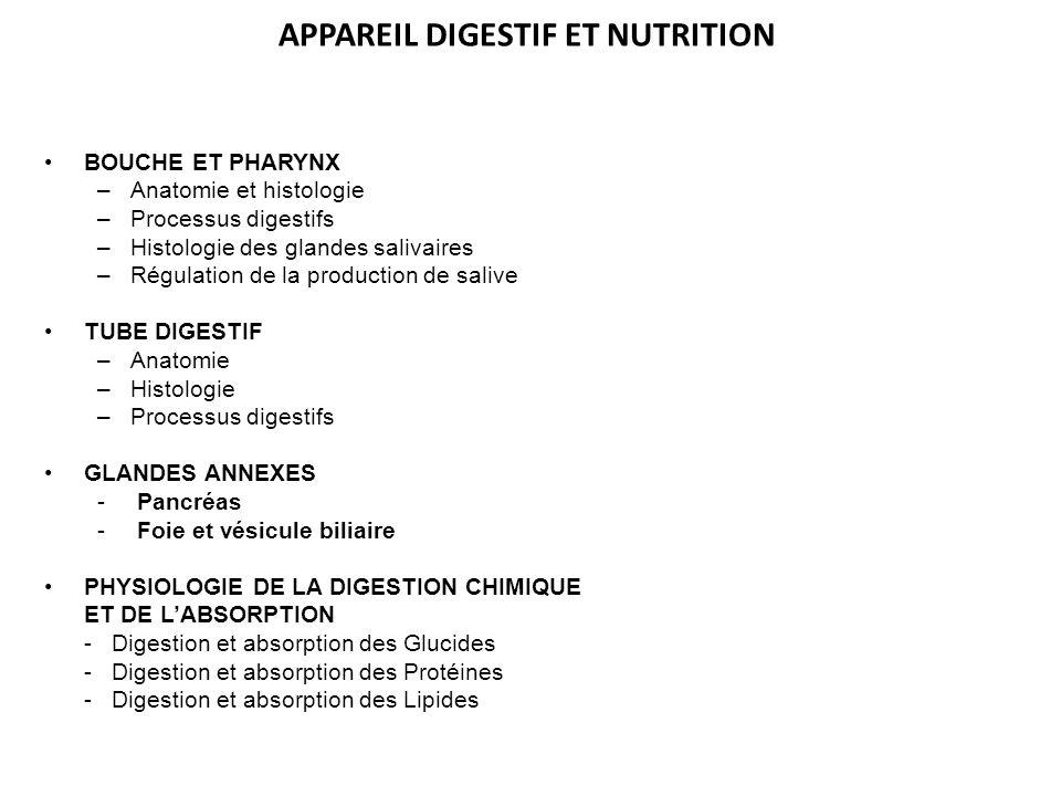 APPAREIL DIGESTIF ET NUTRITION
