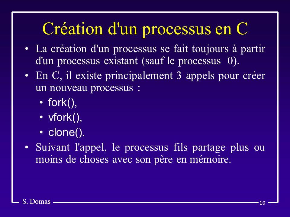 Création d un processus en C