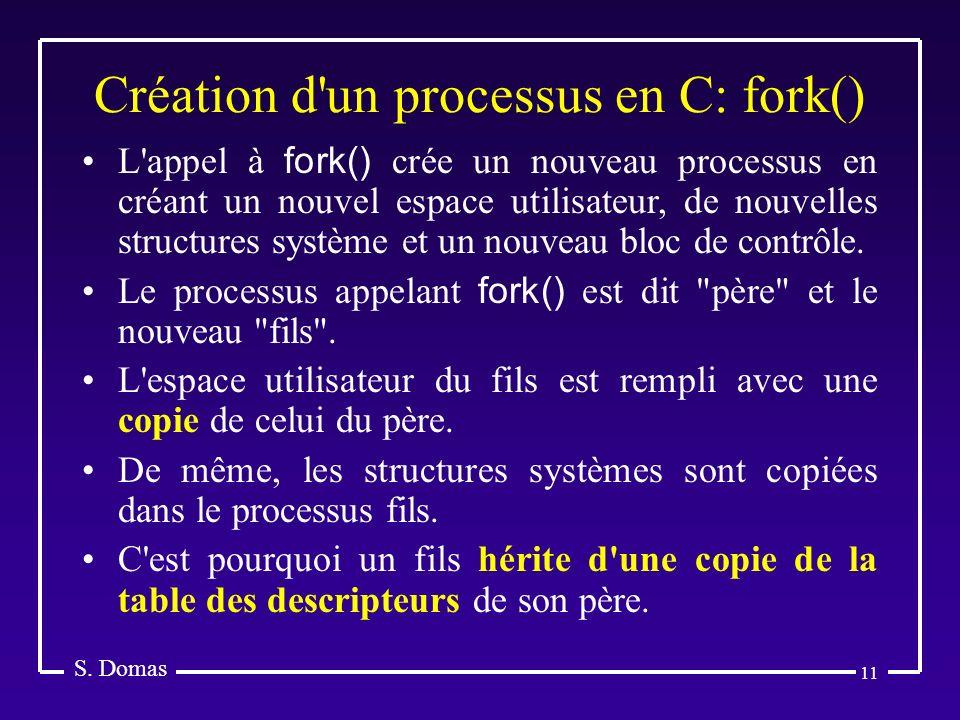 Création d un processus en C: fork()
