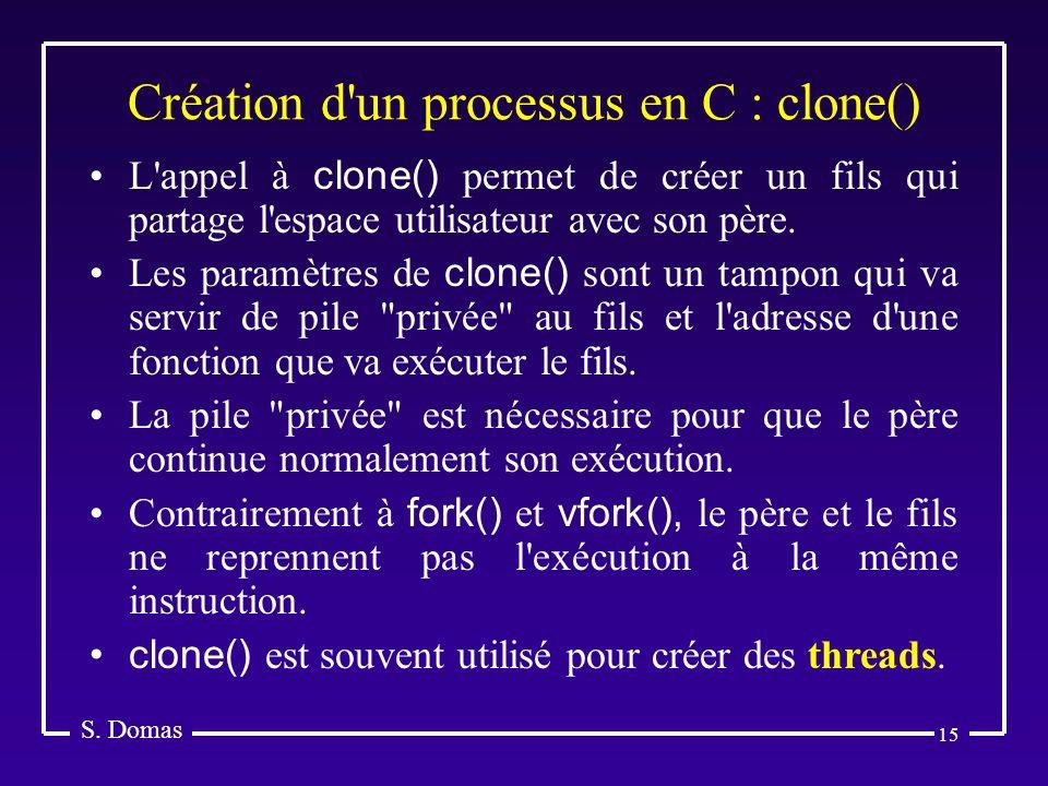 Création d un processus en C : clone()