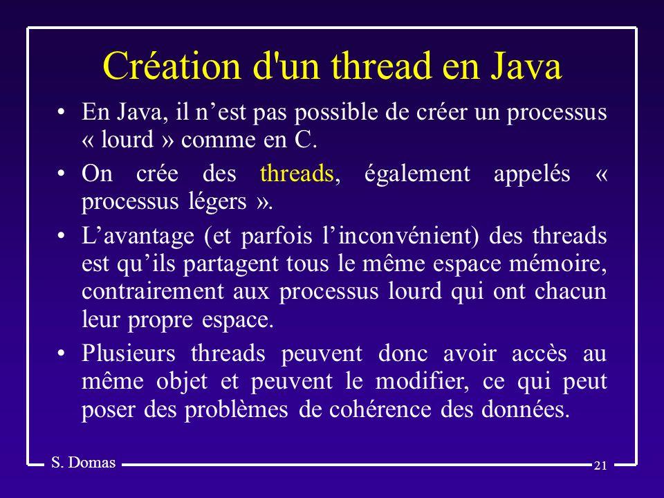 Création d un thread en Java