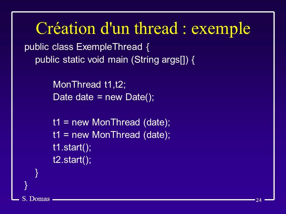 Création d un thread : exemple