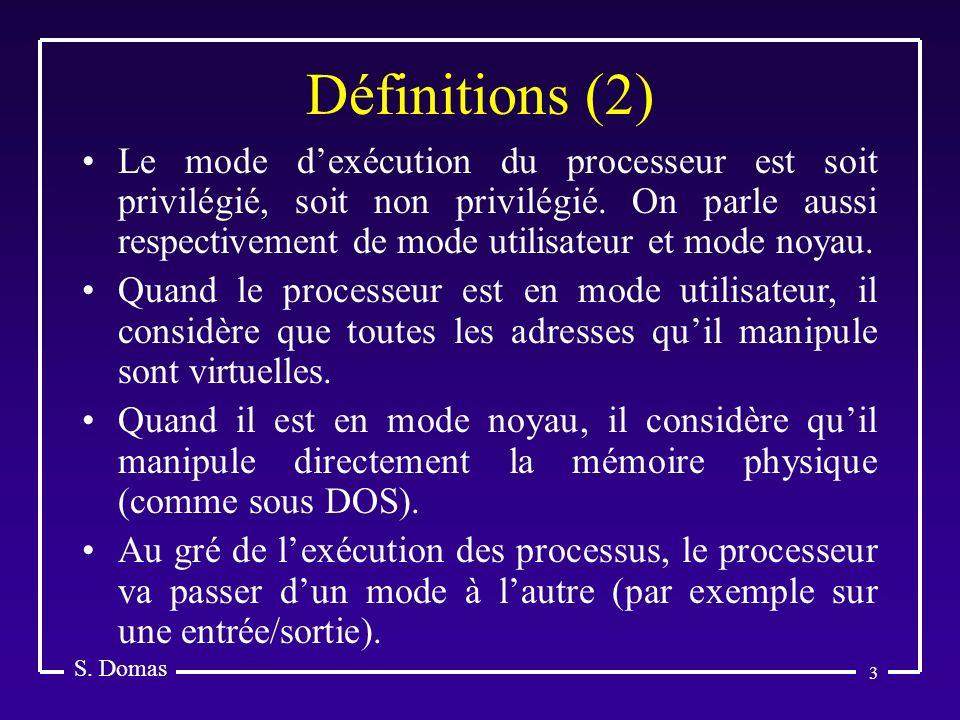 Définitions (2) S. Domas.