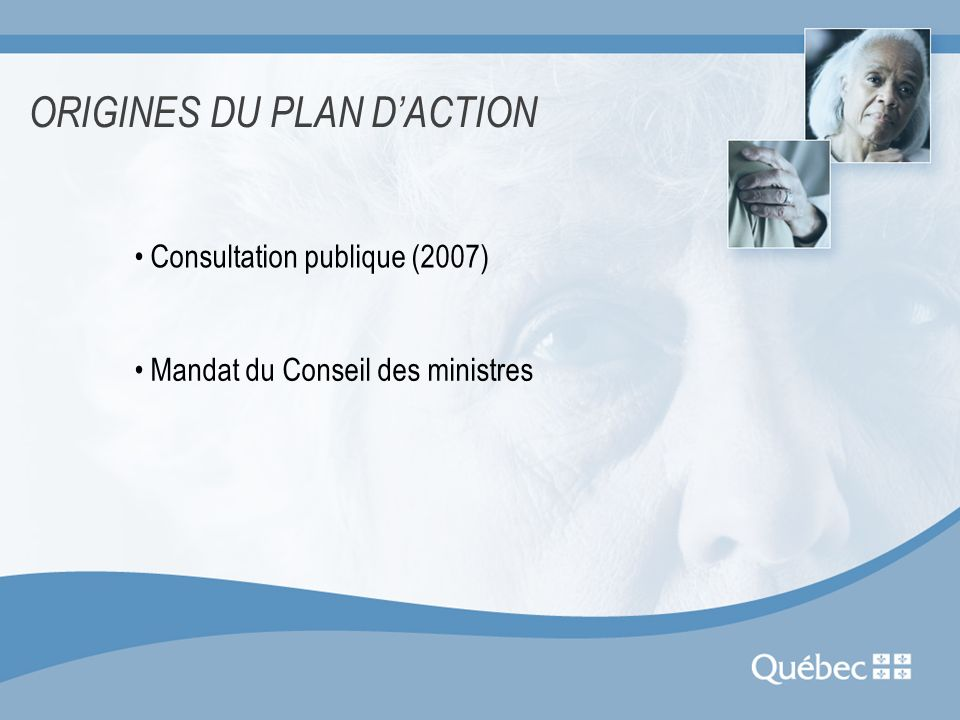ORIGINES DU PLAN D'ACTION