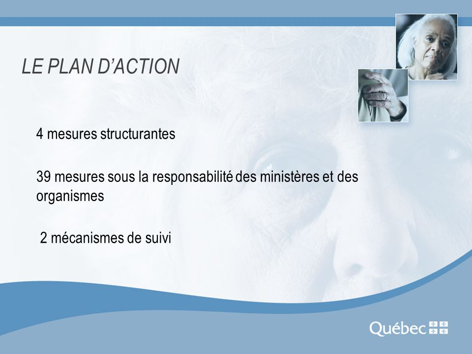LE PLAN D'ACTION 4 mesures structurantes