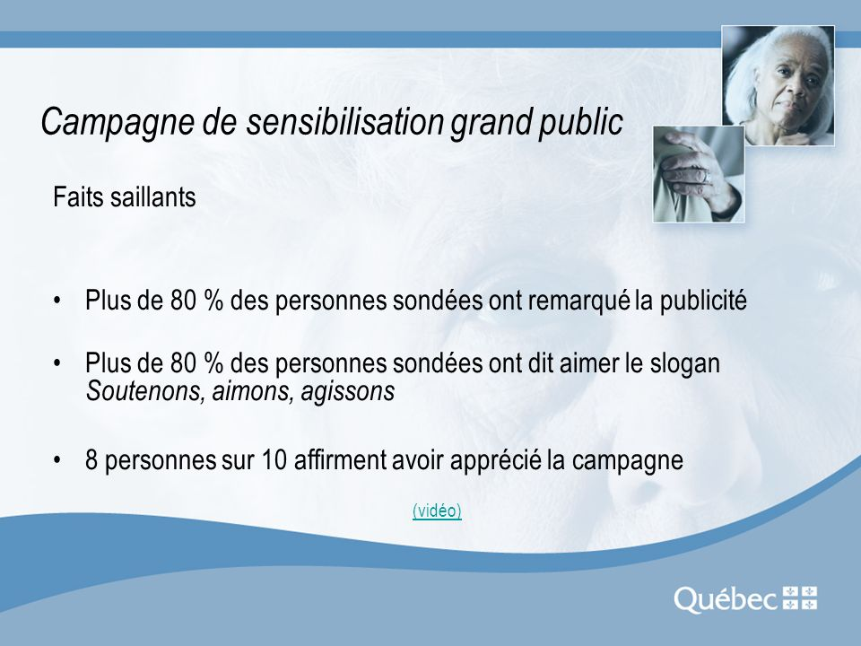 Campagne de sensibilisation grand public