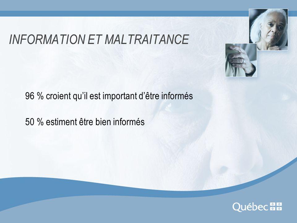 INFORMATION ET MALTRAITANCE