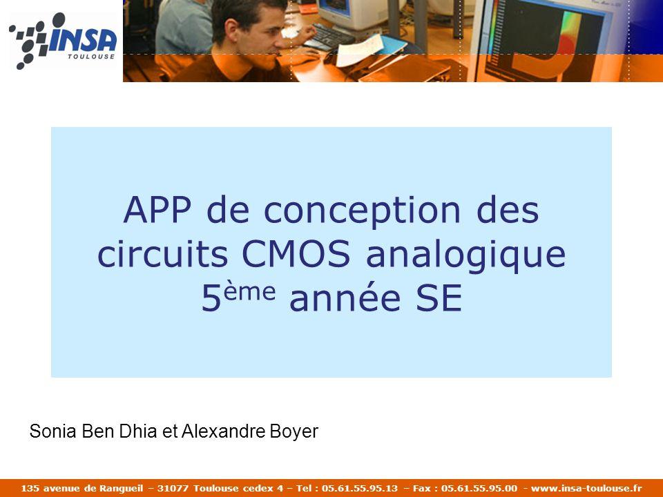APP de conception des circuits CMOS analogique 5ème année SE