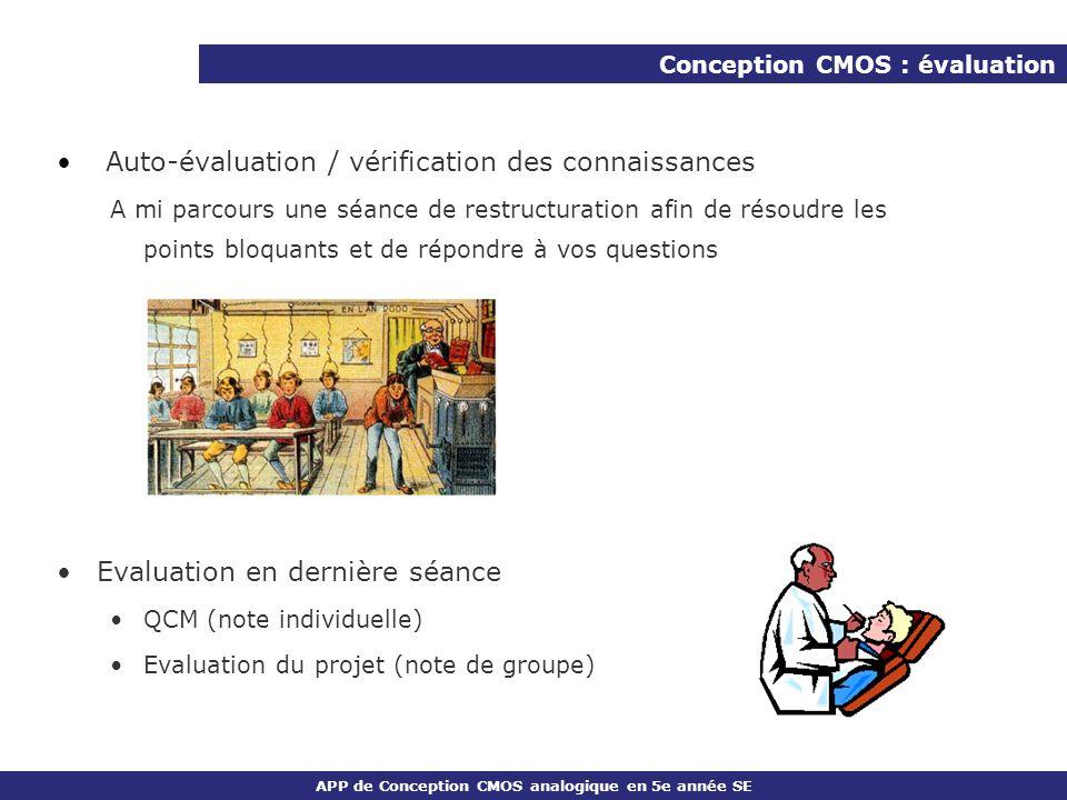 Auto-évaluation / vérification des connaissances
