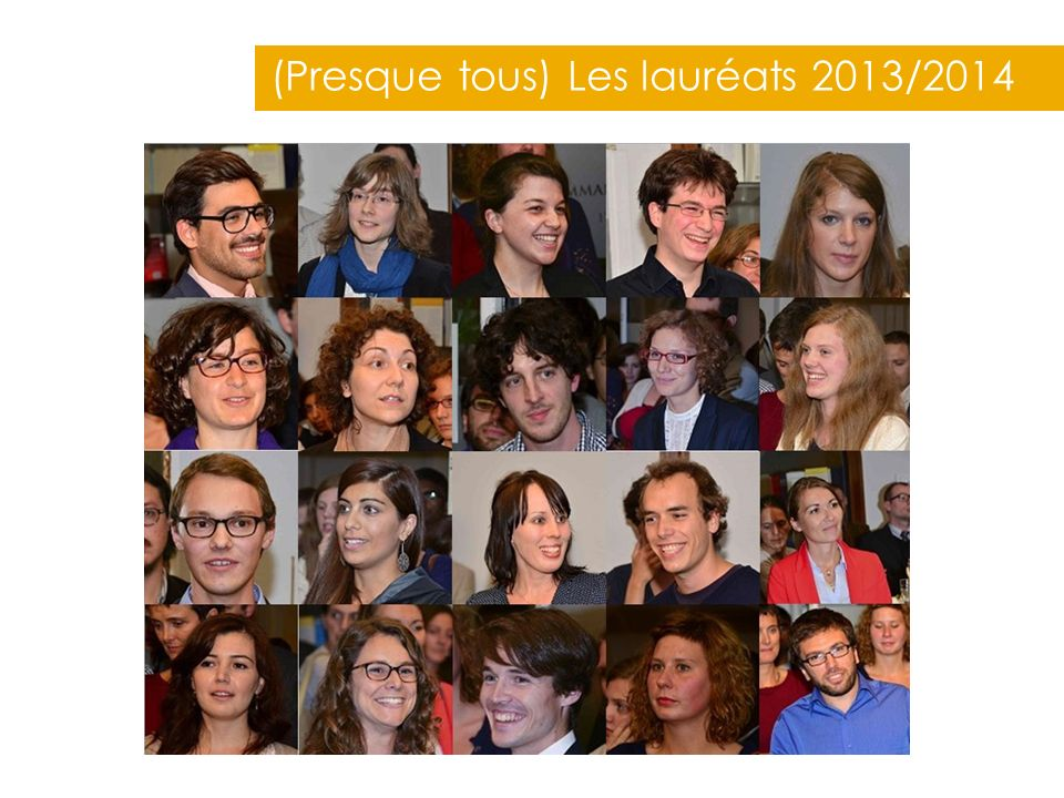 (Presque tous) Les lauréats 2013/2014