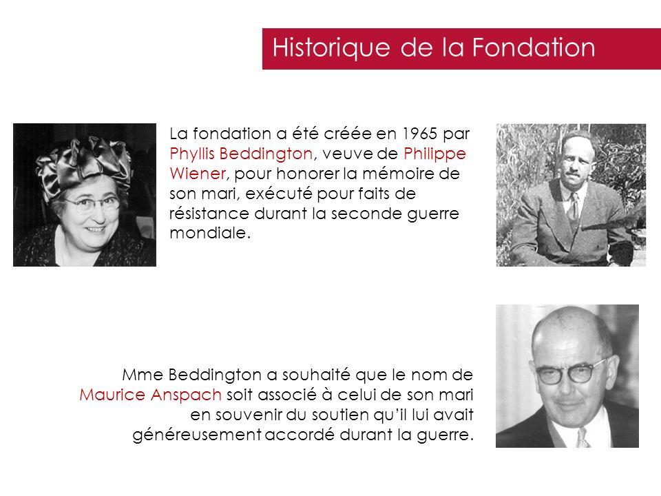 Historique de la Fondation