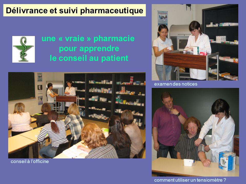 Délivrance et suivi pharmaceutique