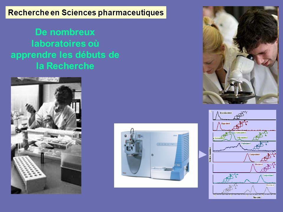 De nombreux laboratoires où apprendre les débuts de la Recherche