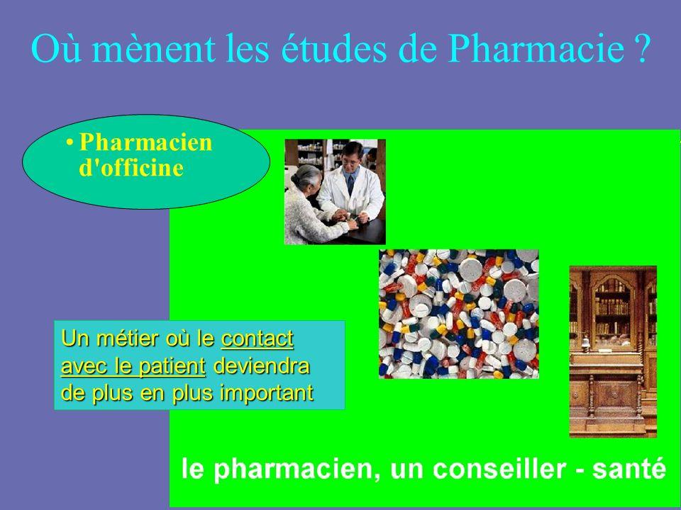 Où mènent les études de Pharmacie