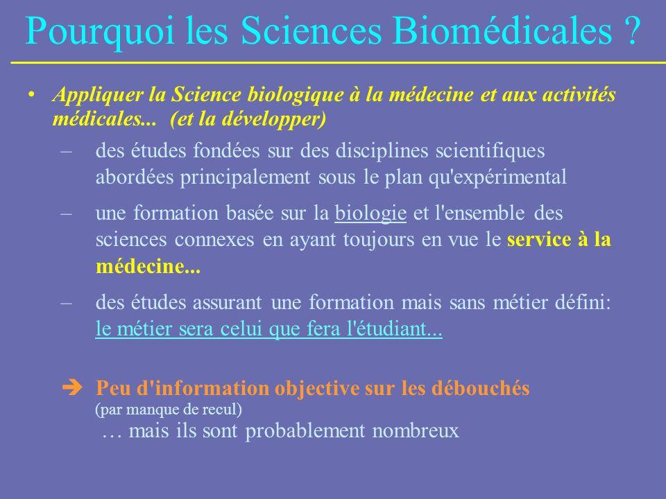 Pourquoi les Sciences Biomédicales