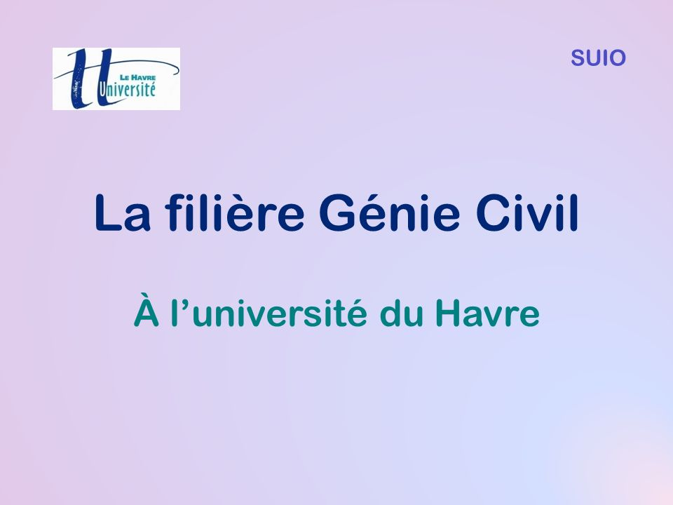 À l'université du Havre