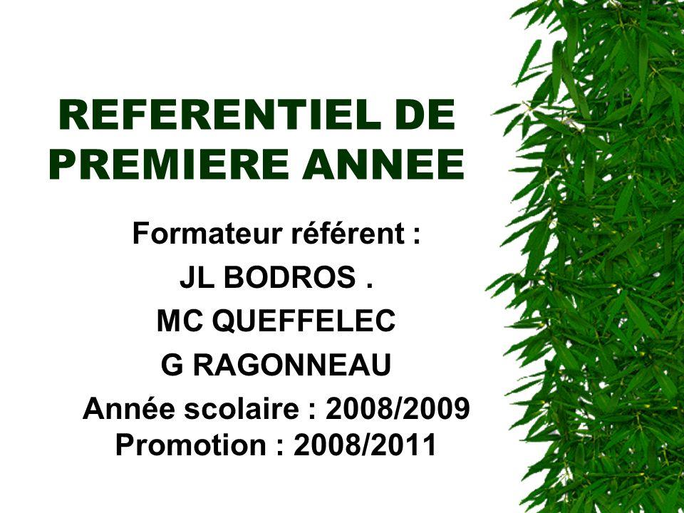 REFERENTIEL DE PREMIERE ANNEE