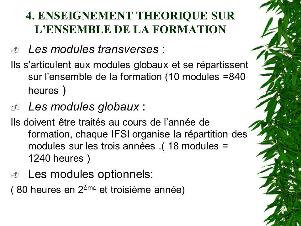 4. ENSEIGNEMENT THEORIQUE SUR L'ENSEMBLE DE LA FORMATION