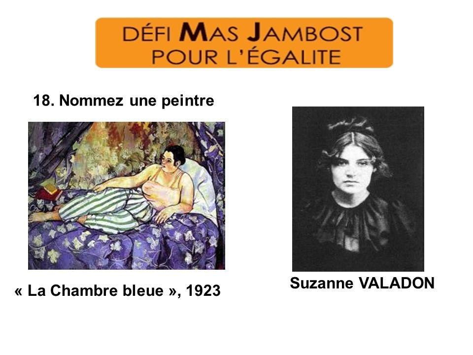 18. Nommez une peintre Suzanne VALADON « La Chambre bleue », 1923