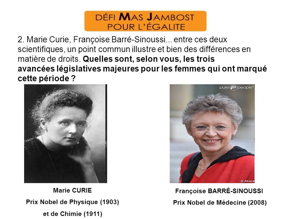 2. Marie Curie, Françoise Barré-Sinoussi