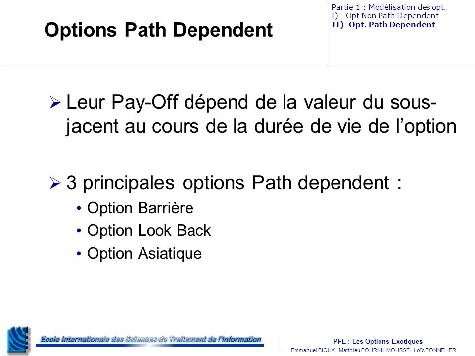 Options Path Dependent