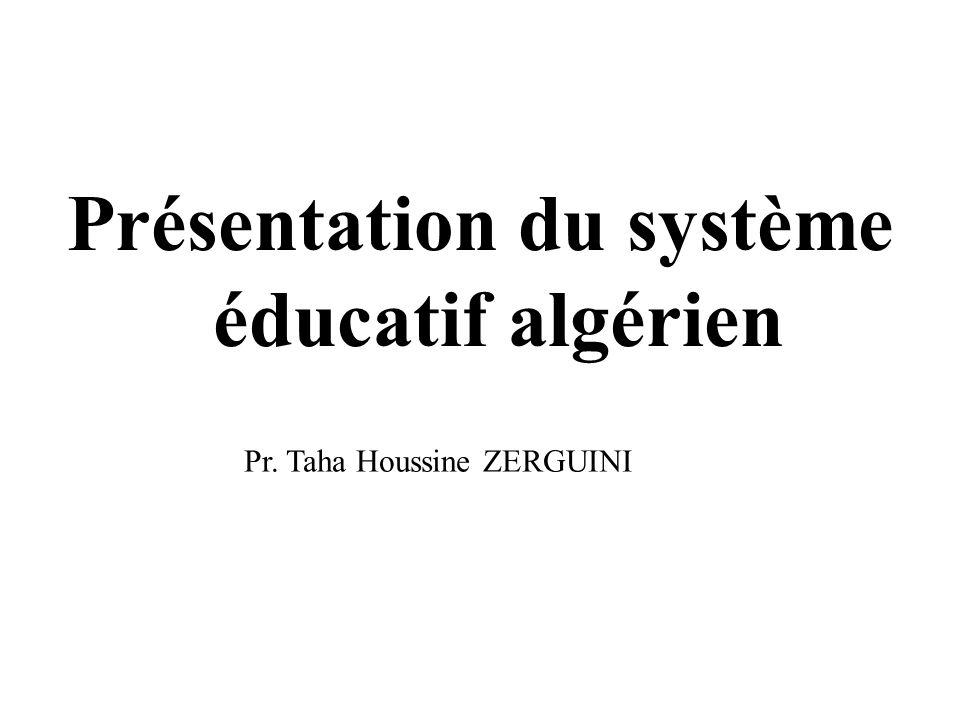 Présentation du système éducatif algérien