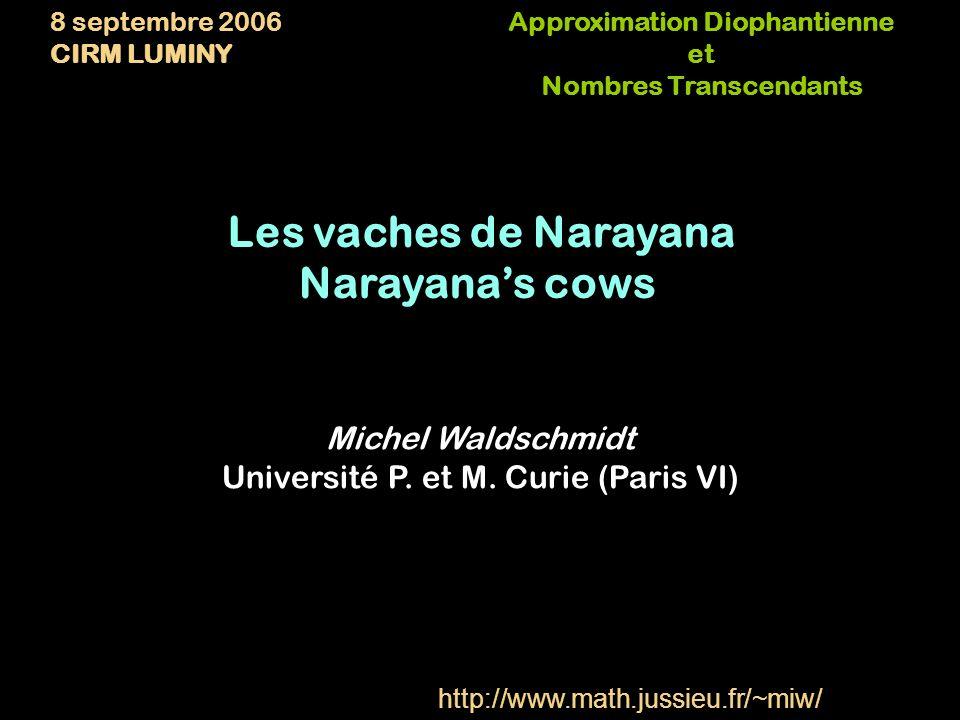 Approximation Diophantienne Nombres Transcendants