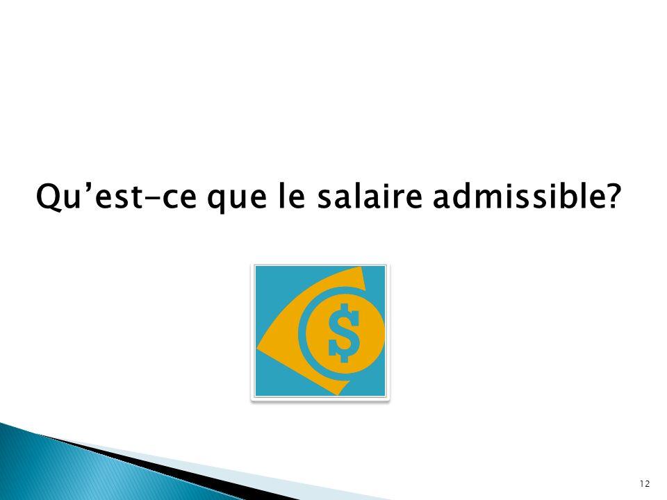 Qu'est-ce que le salaire admissible